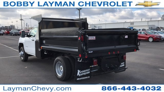2018 Silverado 3500 Regular Cab DRW 4x4, Dump Body #JF100210 - photo 4