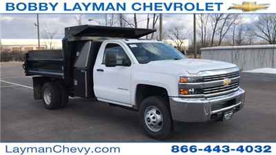 2018 Silverado 3500 Regular Cab DRW 4x4, Dump Body #JF100210 - photo 9