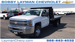 2018 Silverado 3500 Regular Cab DRW, Knapheide Value-Master X Platform Body #JF111380 - photo 3