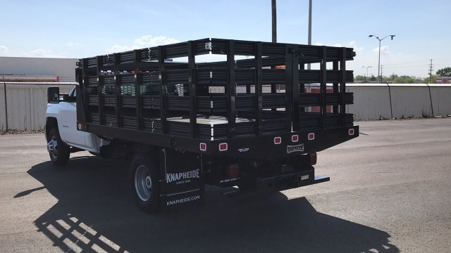 2018 Silverado 3500 Regular Cab DRW, Stake Bed #JF112559 - photo 2
