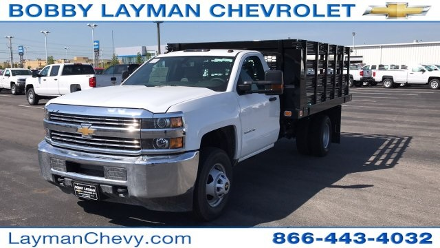 2018 Silverado 3500 Regular Cab DRW, Stake Bed #JF112559 - photo 3