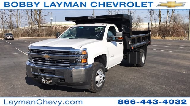 2018 Silverado 3500 Regular Cab DRW 4x4, Rugby Dump Body #JF124183 - photo 3