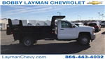 2018 Silverado 3500 Regular Cab DRW 4x4, Rugby Dump Body #JF124183 - photo 1