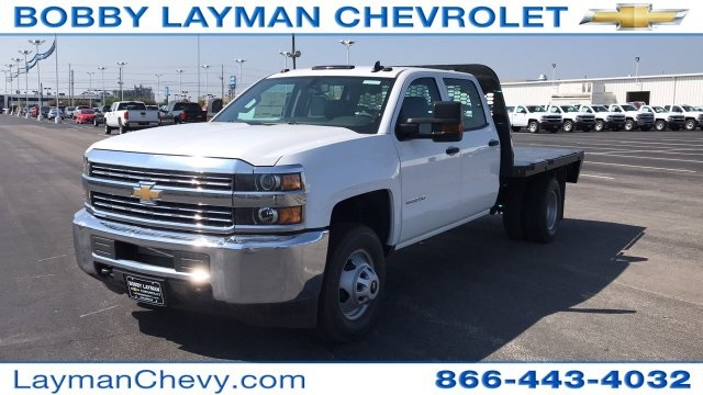 2018 Silverado 3500 Crew Cab DRW 4x4, Platform Body #JF230862 - photo 5
