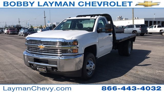 2018 Silverado 3500 Regular Cab DRW 4x2,  Knapheide Platform Body #JF247662 - photo 3