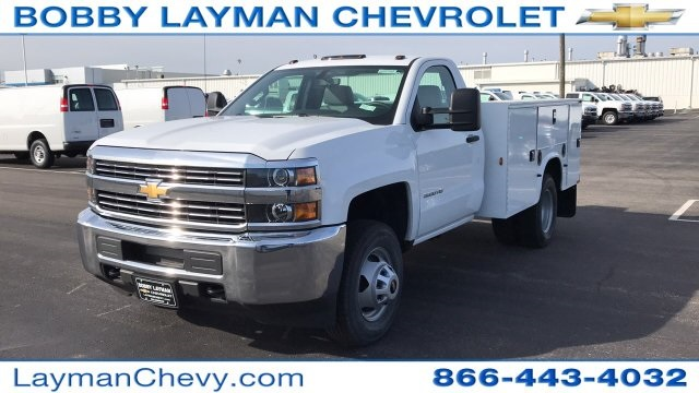 2018 Silverado 3500 Regular Cab DRW 4x4, Knapheide Standard Service Body #JZ152487 - photo 3