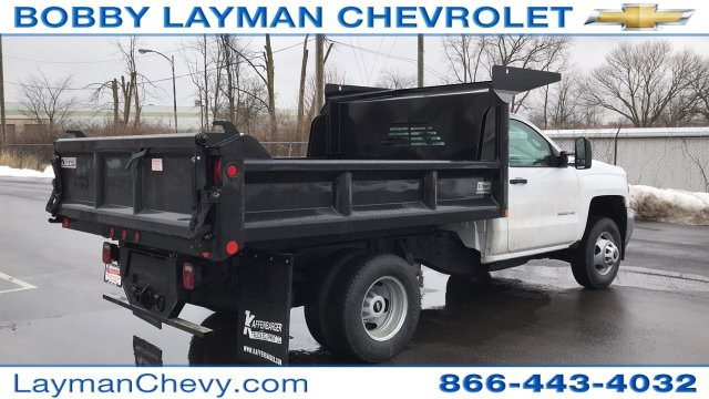 2018 Silverado 3500 Regular Cab DRW 4x4, Crysteel Dump Body #JZ155666 - photo 6