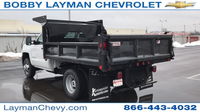 2018 Silverado 3500 Regular Cab DRW 4x4, Crysteel Dump Body #JZ155666 - photo 2