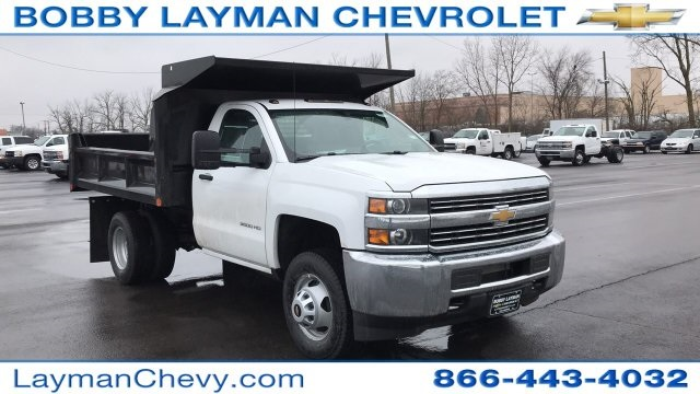 2018 Silverado 3500 Regular Cab DRW 4x4, Crysteel Dump Body #JZ155666 - photo 5