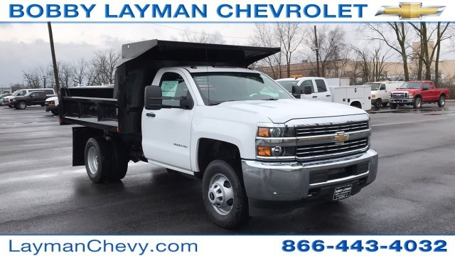 2018 Silverado 3500 Regular Cab DRW 4x4, Crysteel Dump Body #JZ252391 - photo 6