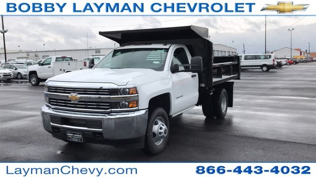 2018 Silverado 3500 Regular Cab DRW 4x4, Crysteel Dump Body #JZ252391 - photo 4