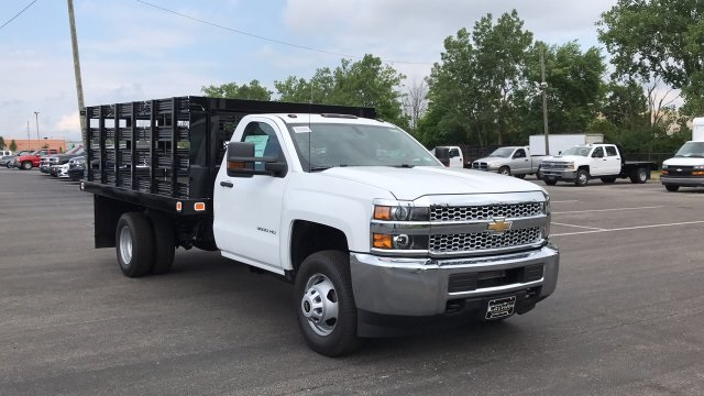 2019 Silverado 3500 Regular Cab 4x4,  Stake Bed #KF101209 - photo 9