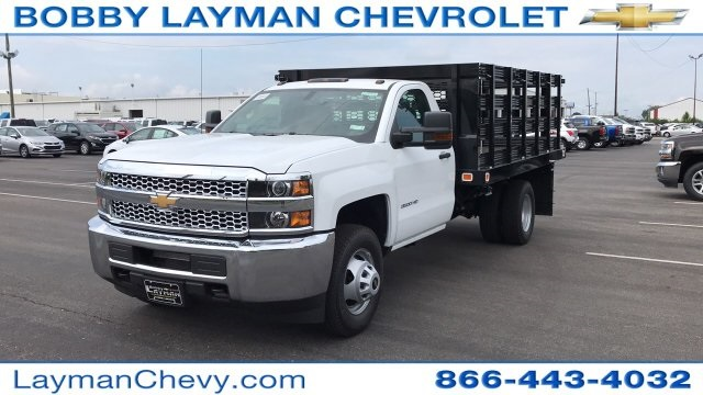 2019 Silverado 3500 Regular Cab 4x4,  Stake Bed #KF101209 - photo 3