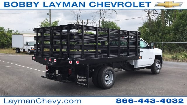 2019 Silverado 3500 Regular Cab 4x4,  Stake Bed #KF101209 - photo 12