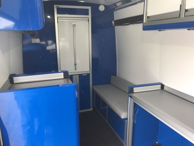2017 Ford Transit 350 HD High Roof DRW 4x2, CTECH Manufacturing Mobile Work Shop Upfitted Cargo Van #HKB32280 - photo 3