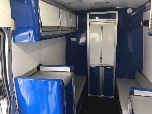 2017 Transit 350 HD High Roof DRW 4x2, Upfitted Cargo Van #HKB32280 - photo 9