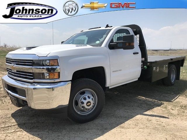 2018 Silverado 3500 Regular Cab DRW 4x4,  Platform Body #G817403 - photo 1