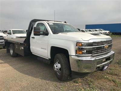 2018 Silverado 3500 Regular Cab DRW 4x4,  Default Bedrock Platform Body #G877304 - photo 4