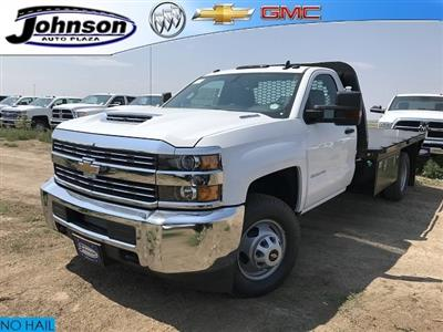 2018 Silverado 3500 Regular Cab DRW 4x4,  Knapheide PGNB Gooseneck Platform Body #G888368 - photo 1