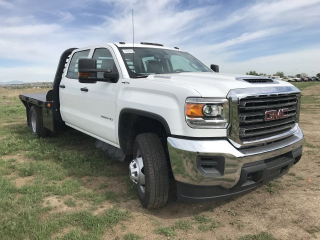 2018 Sierra 3500 Crew Cab DRW 4x4,  Freedom Platform Body #G835642 - photo 4