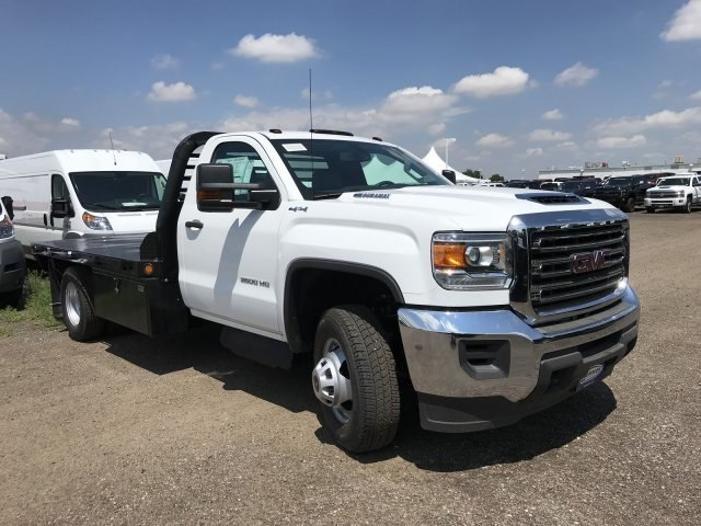 2018 Sierra 3500 Regular Cab DRW 4x4,  Freedom Platform Body #G872713 - photo 4