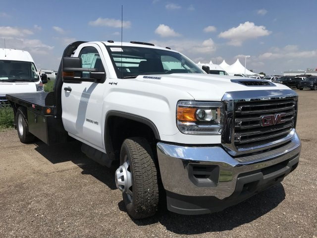 2018 Sierra 3500 Regular Cab DRW 4x4,  Freedom Rodeo Platform Body #G873333 - photo 4