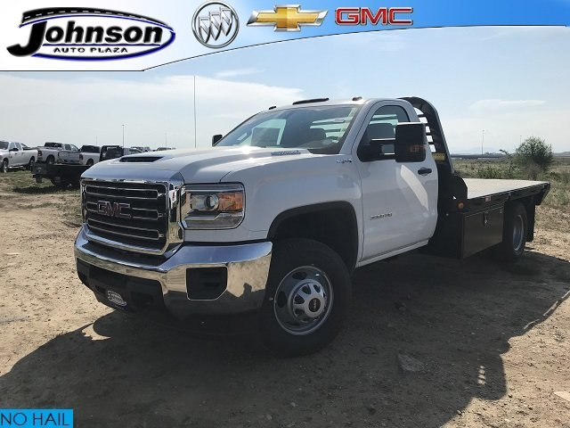 2018 Sierra 3500 Regular Cab DRW 4x4,  Freedom Rodeo Platform Body #G874103 - photo 1