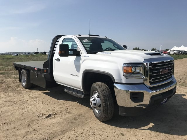 2018 Sierra 3500 Regular Cab DRW 4x4,  Platform Body #G874103 - photo 4
