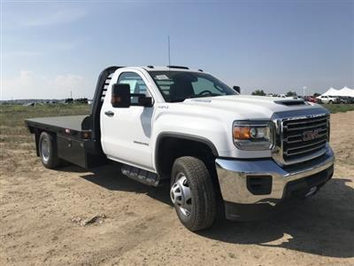 2018 Sierra 3500 Regular Cab DRW 4x4,  Freedom Rodeo Platform Body #G874103 - photo 4