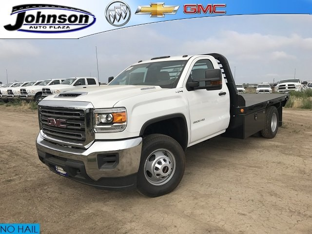 2018 Sierra 3500 Regular Cab DRW 4x4,  Platform Body #G874601 - photo 1
