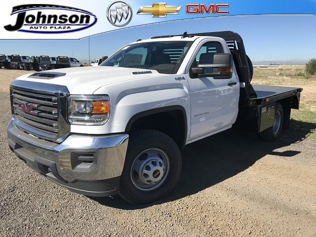 2018 Sierra 3500 Regular Cab DRW 4x4,  Bedrock Diamond Series Platform Body #G886611 - photo 1