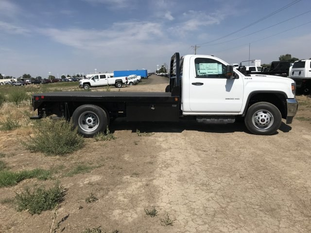 2018 Sierra 3500 Regular Cab DRW 4x4,  Hillsboro GI Steel Platform Body #G888988 - photo 5