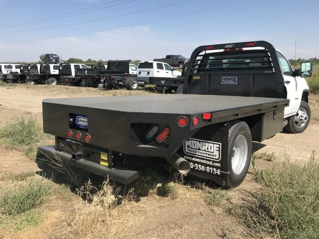 2018 Sierra 3500 Regular Cab DRW 4x4,  Hillsboro GI Steel Platform Body #G888988 - photo 6