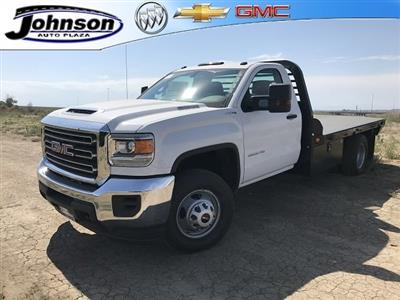 2018 Sierra 3500 Regular Cab DRW 4x4,  Hillsboro GI Steel Platform Body #G888988 - photo 1