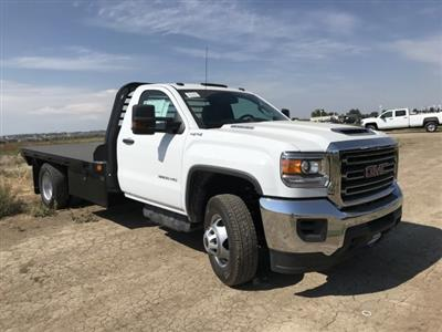 2018 Sierra 3500 Regular Cab DRW 4x4,  Hillsboro GI Steel Platform Body #G888988 - photo 4