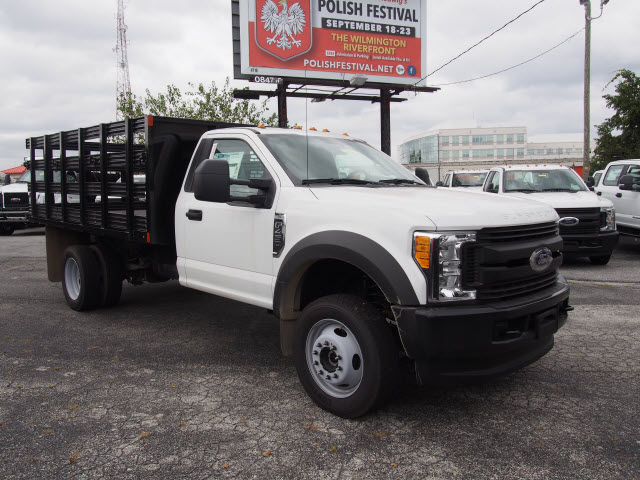 2017 F-450 Regular Cab DRW 4x4, Swampy Hollow Truck Bodies Stake Bed #257841 - photo 3