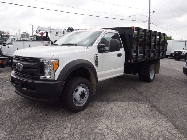 2017 F-450 Regular Cab DRW 4x4, Swampy Hollow Truck Bodies Stake Bed #257841 - photo 1