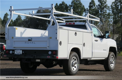 2018 Silverado 3500 Regular Cab 4x4, Royal Service Bodies Service Body #F2244 - photo 2