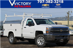 2018 Silverado 3500 Regular Cab 4x4, Royal Service Bodies Service Body #F2244 - photo 1