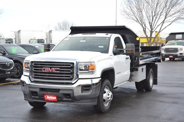 2018 Sierra 3500 Regular Cab DRW 4x4, Monroe Dump Body #18G637 - photo 3