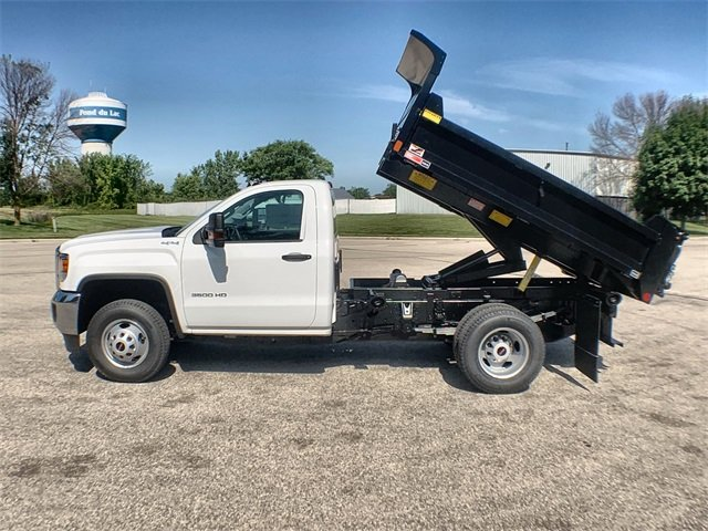 2019 Sierra 3500 Regular Cab DRW 4x4,  Monroe MTE-Zee Dump Body #19G529 - photo 4