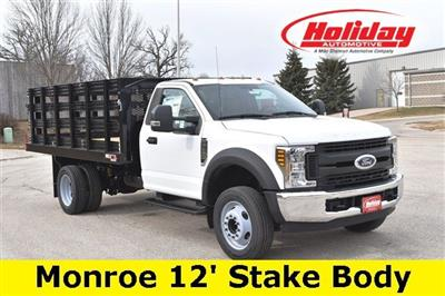 2019 F-450 Regular Cab DRW 4x2,  Monroe Work-A-Hauler II Stake Bed #19F355 - photo 1