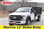 2019 F-450 Regular Cab DRW 4x2, Monroe Work-A-Hauler II Stake Bed #19F355 - photo 3