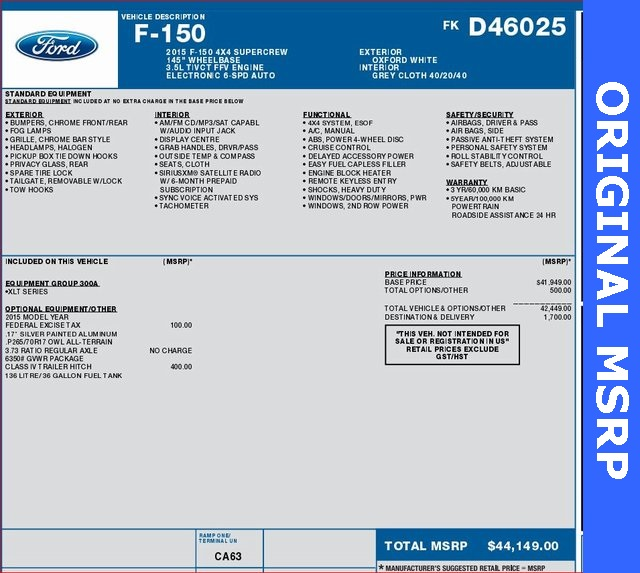 2015 F-150 SuperCrew Cab 4x4,  Pickup #D46025A - photo 9