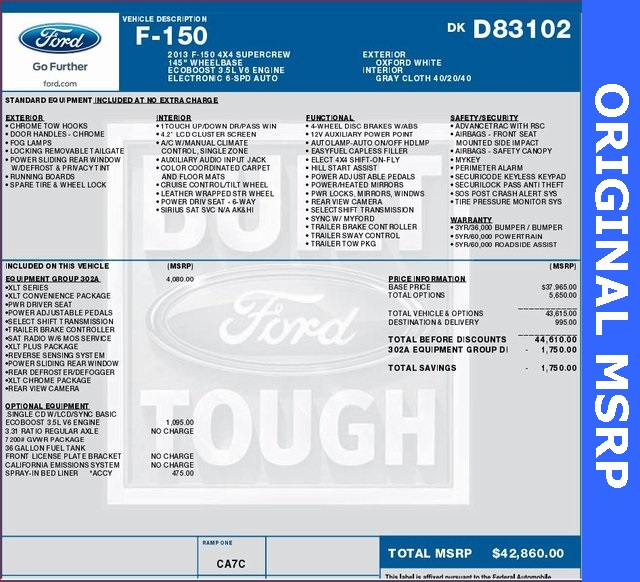 2013 F-150 SuperCrew Cab 4x4,  Pickup #D83102 - photo 6