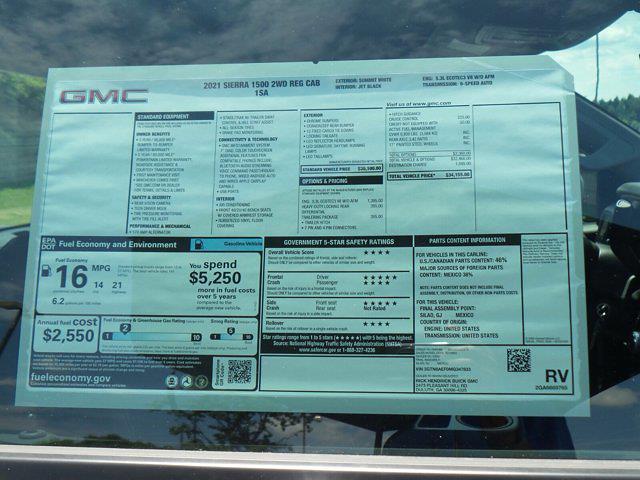 2021 GMC Sierra 1500 Regular Cab 4x2, Pickup #M47833 - photo 22