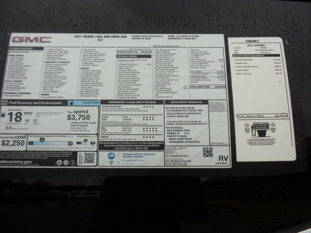 2021 GMC Sierra 1500 Crew Cab 4x4, Pickup #M86490 - photo 52