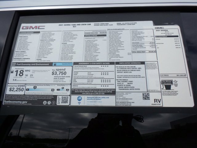 2021 GMC Sierra 1500 Crew Cab 4x4, Pickup #M91831 - photo 56