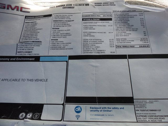 2021 GMC Savana 4500 DRW 4x2, Cutaway #MD01137 - photo 46