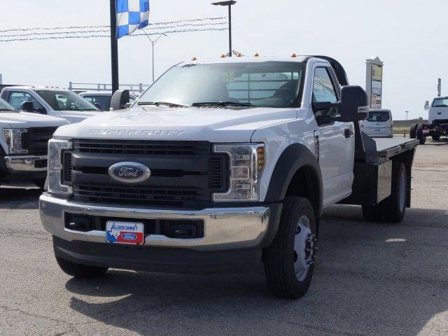 2019 Ford F-550 Regular Cab DRW 4x4, CM Truck Beds RD Model Flatbed #TDA27396 - photo 8